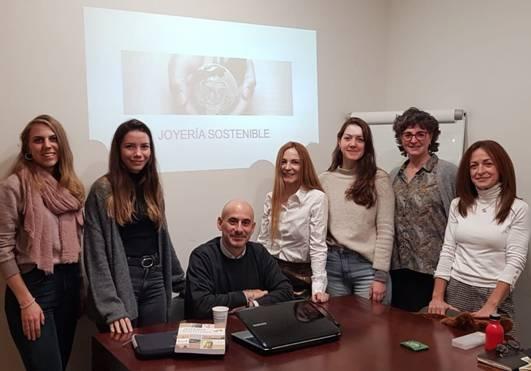 Curso de joyería sostenible en el Colegio joyero de Cataluña