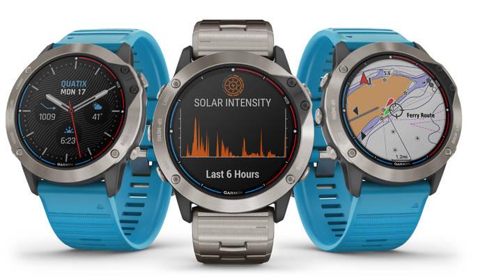 Garmin presenta el primer reloj náutico de carga solar