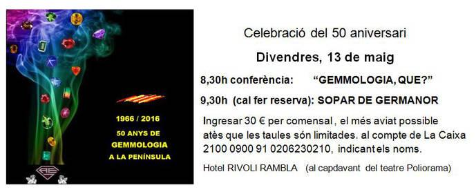 50 Aniversario de la Gemología catalana