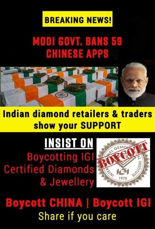 La guerra comercial entre India y China alcanza al diamante