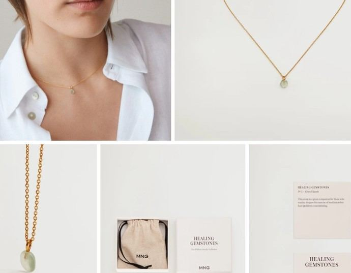 Mango Healing Gemstones: gemas en la fast fashion