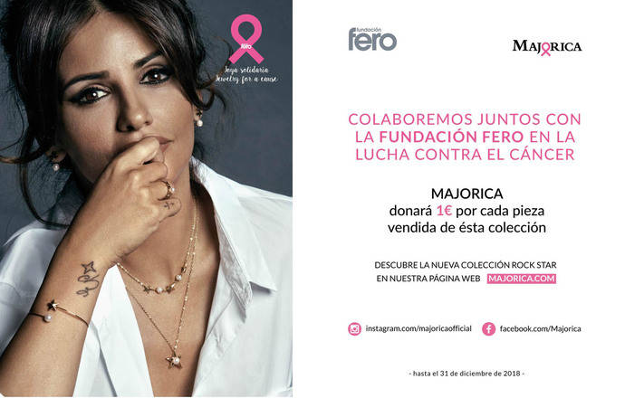 Colección solidaria de Majórica contra el cáncer de Mama