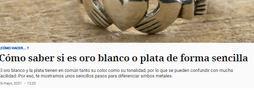 El periódico El Español lo vuelve a hacer: ¿Cómo saber si es oro blanco o plata de forma sencilla?