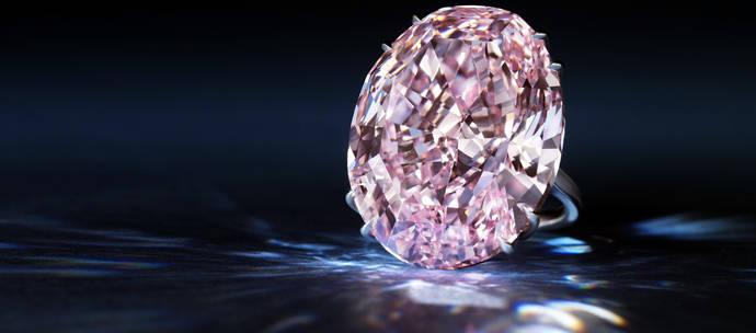 El fabuloso Pink Star vuelve a subasta cuatro años después de pasar por Sotheby's
