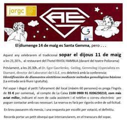 La gemología catalana celebra Santa Gema