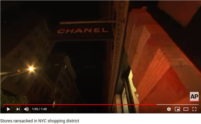 Una turba arrasa las tiendas de Chanel y Watches of Switzerland en Nueva York