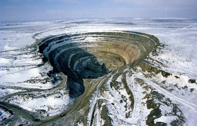 El cambio climático amenaza al 90% de la producción de diamantes rusos