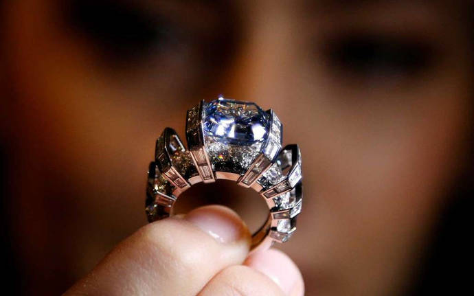 Un diamante azul de 8 quilates, a subasta en Sotheby's por 25 millones de dólares