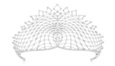 La tiara Lacis (Chaumet), en una boda imperial