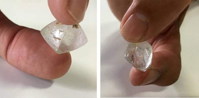 El topacio, una de las imitaciones más frecuentes del diamante en bruto