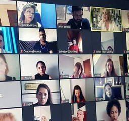 Un momento del encuentro digital con Rosa Tous. Foto: Laura Márquez