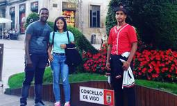 Los tres alumnos dominicanos becados para estudiar Joyería Artística en Vigo.