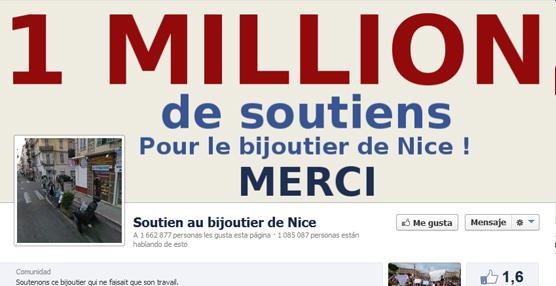 El joyero que mató a uno de sus atracadores en Niza recibe más de un millón y medio de apoyos en Facebook