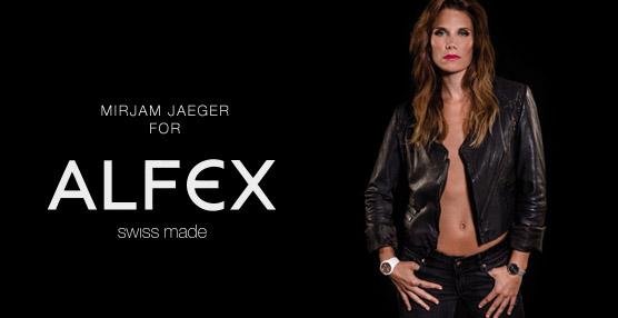 La modelo y 'as' del freeski Mirjam Jaeger es la nueva cara de la marca relojera Alfex
